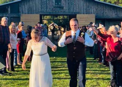 Married Couple at Sweet Briar Farm Wedding Venue Texas